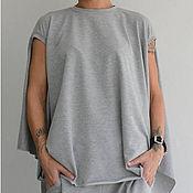 Одежда ручной работы. Ярмарка Мастеров - ручная работа Женский костюм Air (Grey). Handmade.