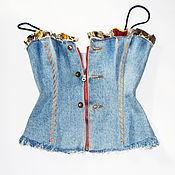 Одежда ручной работы. Ярмарка Мастеров - ручная работа Корсет джинсовый. Handmade.