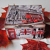 """Для дома и интерьера ручной работы. Ярмарка Мастеров - ручная работа Чайная шкатулка """"Лондон"""". Handmade."""