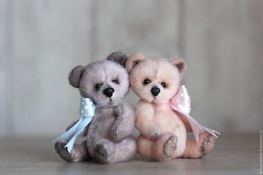 Мишки Тедди ручной работы. Ярмарка Мастеров - ручная работа. Купить - Мини мишки тедди Anny&Andrew -. Handmade. Комбинированный, минимишка