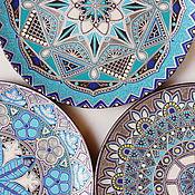 Посуда ручной работы. Ярмарка Мастеров - ручная работа Сон в летнюю ночь.Комплект декоративных тарелок.. Handmade.