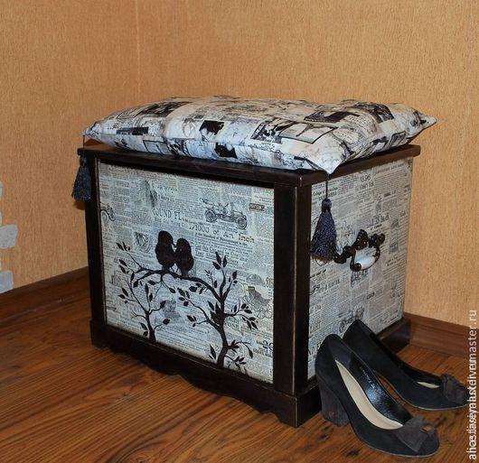 """Мебель ручной работы. Ярмарка Мастеров - ручная работа. Купить Сундук """"Birdie"""". Handmade. Чёрно-белый, мебель в стиле прованс"""