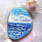 Картины и панно handmade. Livemaster - original item The painting on the stone