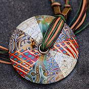 Украшения ручной работы. Ярмарка Мастеров - ручная работа кулон полимерной глины мозаика пэчворк 2. Handmade.