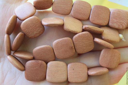 Для украшений ручной работы. Ярмарка Мастеров - ручная работа. Купить Розовое дерево, квадратные бусины  16 мм. Handmade.