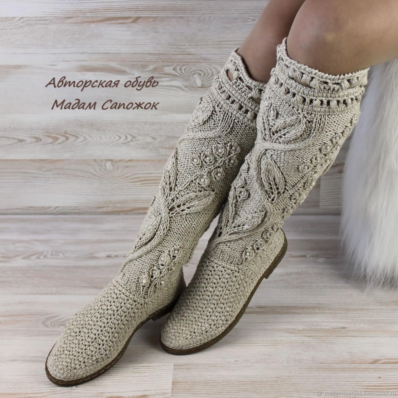 9284c4086552f Linen women summer boots