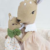 Stuffed Toys handmade. Livemaster - original item Deer Mother and daughter. Handmade.