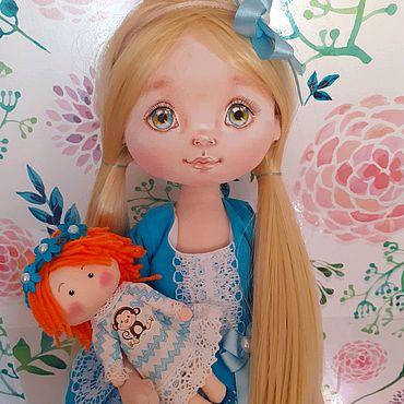 Куклы и игрушки ручной работы. Ярмарка Мастеров - ручная работа Анюта.Текстильная куколка. Handmade.