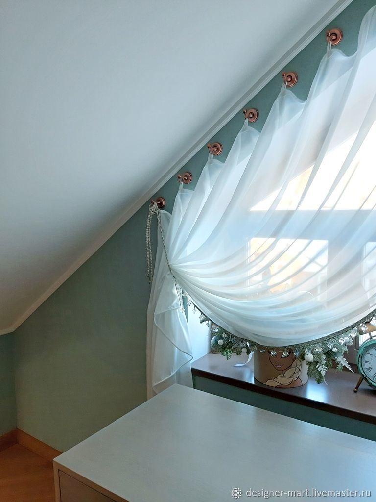 как сшить шторы на скошенные окна фото означает, что поклонники