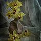 Фотокартины ручной работы. Ярмарка Мастеров - ручная работа. Купить Натюрморт Букет орхидей. Handmade. Желтый, бордовый, серый, орхидеи