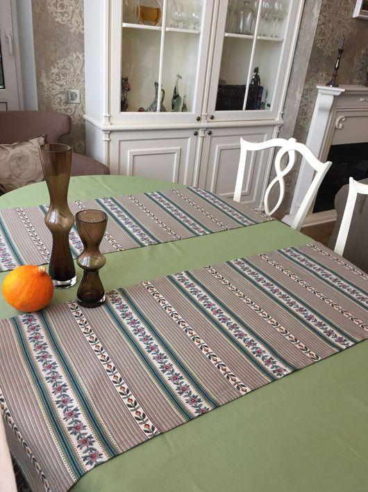 Текстиль, ковры ручной работы. Ярмарка Мастеров - ручная работа. Купить Дорожка на стол. Handmade. Ранер, салфетки для кухни