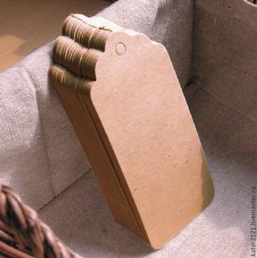 Упаковка ручной работы. Ярмарка Мастеров - ручная работа. Купить Крафт бирки 9x4,5см 10шт. Handmade. Комбинированный, бирки