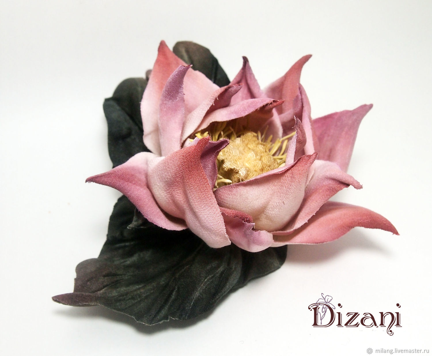 Brooch Lotus Silk Flowers Cloth Flowers Shop Online On Livemaster