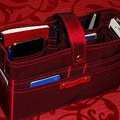 """Органайзер ручной работы. Ярмарка Мастеров - ручная работа Органайзер для сумки большой """"Бордо"""". Handmade."""