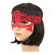 Одежда ручной работы. Ярмарка Мастеров - ручная работа Красная кружевная маска Леди. Handmade.