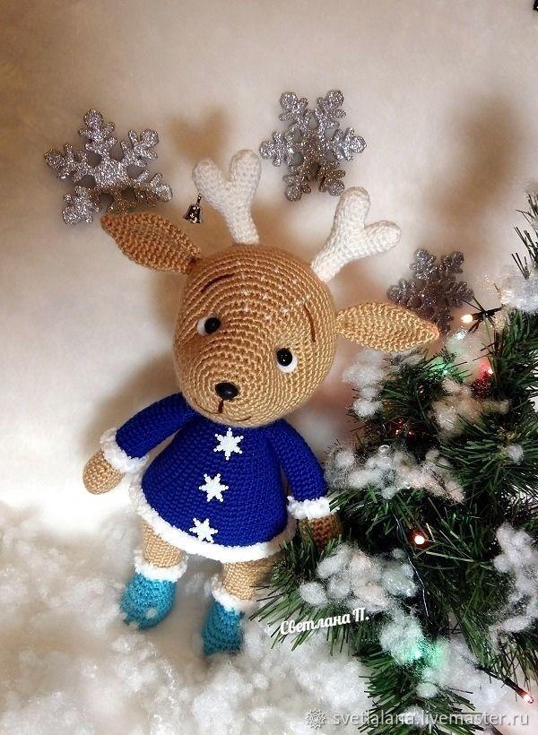 Готовая работа: Рождественский олень, Мягкие игрушки, Белгород,  Фото №1