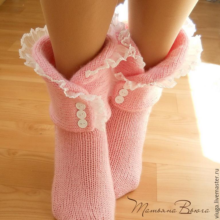 Купить Про Любовь. Носки вязаные, шерстяные, домашняя ...