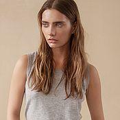Одежда handmade. Livemaster - original item Women`s cashmere t-shirt Sara. Handmade.