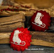 Подарки к праздникам ручной работы. Ярмарка Мастеров - ручная работа Медальки на елку (Шары на елку). Handmade.