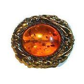 Украшения handmade. Livemaster - original item Brooch amber vintage style Baroque art Nouveau. Handmade.