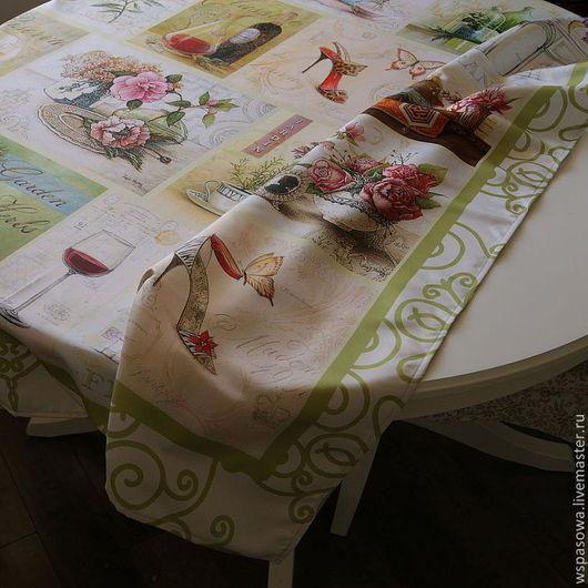 Текстиль, ковры ручной работы. Ярмарка Мастеров - ручная работа. Купить Скатерть Прованс. Handmade. Лимонный, италия, Декор
