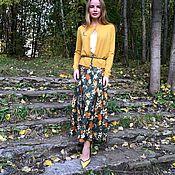 """Одежда ручной работы. Ярмарка Мастеров - ручная работа Шелковая юбка"""" листопад"""". Handmade."""