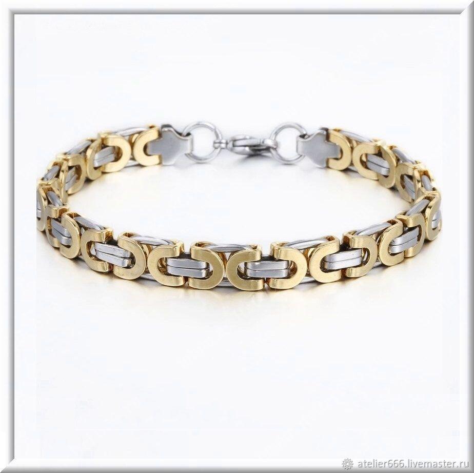 Men's steel bracelet no. 22 stainless steel 316L, Regaliz bracelet, Moscow,  Фото №1