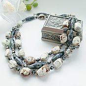 Украшения handmade. Livemaster - original item Necklace with labradorite and Jasper. Handmade.
