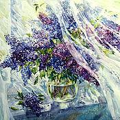 Картины и панно handmade. Livemaster - original item Painting watercolor lilacs (repetition). Handmade.
