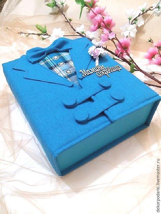"""Подарки для новорожденных, ручной работы. Ярмарка Мастеров - ручная работа. Купить Мамины сокровища """"Счастливое детсво"""". Handmade. Голубой"""