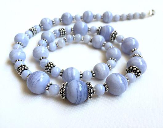 Колье, бусы ручной работы. Ярмарка Мастеров - ручная работа. Купить Ожерелье из натуральных камней и серебра 925. Handmade.