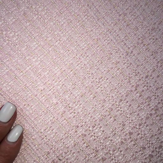 Шитье ручной работы. Ярмарка Мастеров - ручная работа. Купить Твид шанель букле Chanel бледно-розовый хлопковый. Handmade.