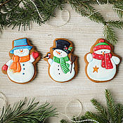 Сувениры и подарки handmade. Livemaster - original item Set of gingerbread Snowmen. Handmade.