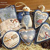 Подарки к праздникам handmade. Livemaster - original item Christmas set of 6pcs. toys