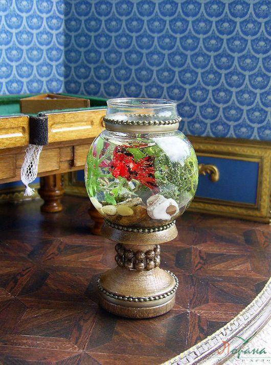 Кукольный дом ручной работы. Ярмарка Мастеров - ручная работа. Купить Большой напольный миниатюрный аквариум. 1:12. Handmade. Аквариум