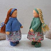Куклы и игрушки ручной работы. Ярмарка Мастеров - ручная работа Сестренки, 20 см. Handmade.
