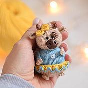 Сувениры и подарки handmade. Livemaster - original item Bull symbol 2021, bull toy, interior cow toy. Handmade.