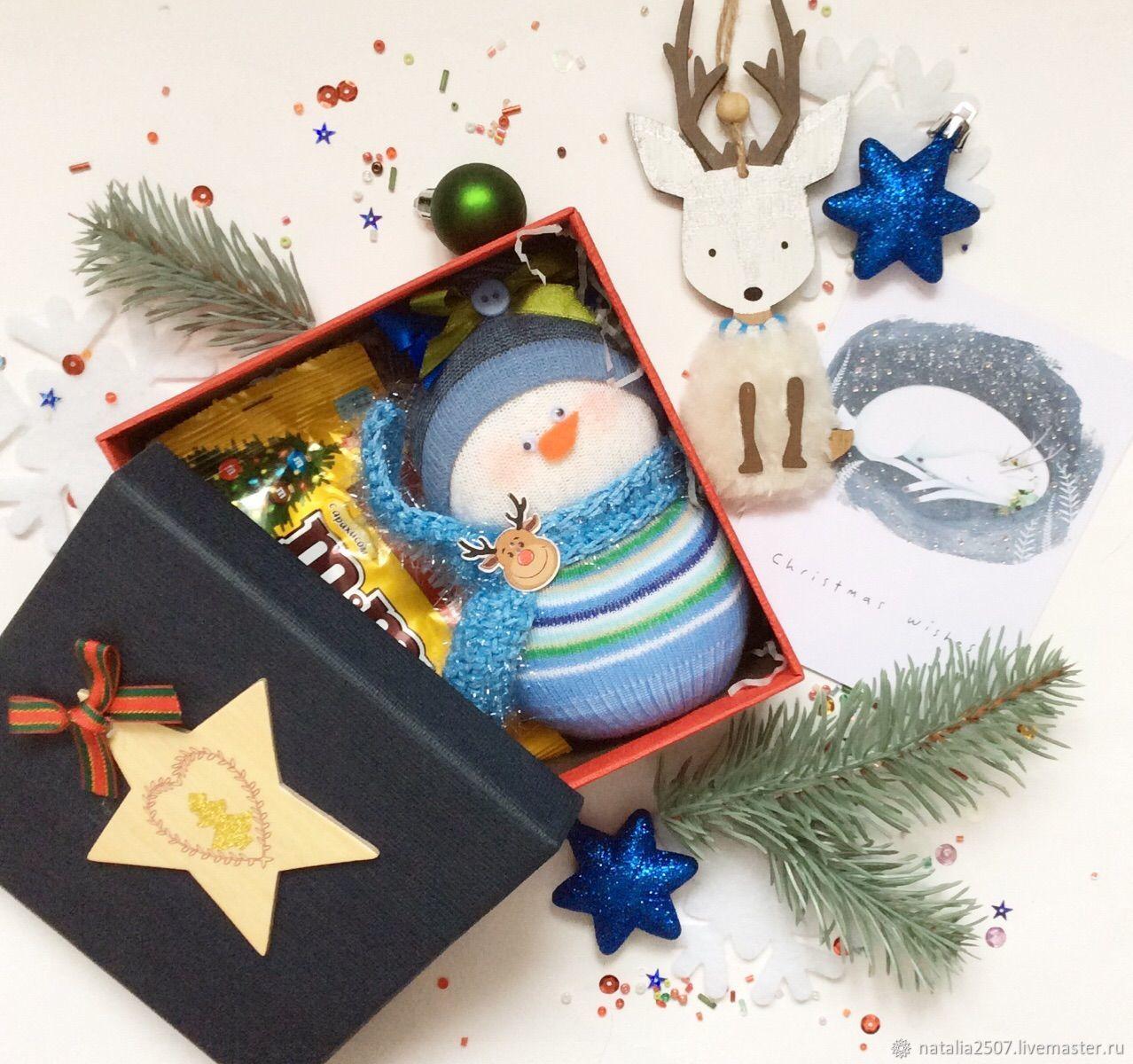 Новогодний подарок со  снеговиком и оленем, Подарки, Москва, Фото №1