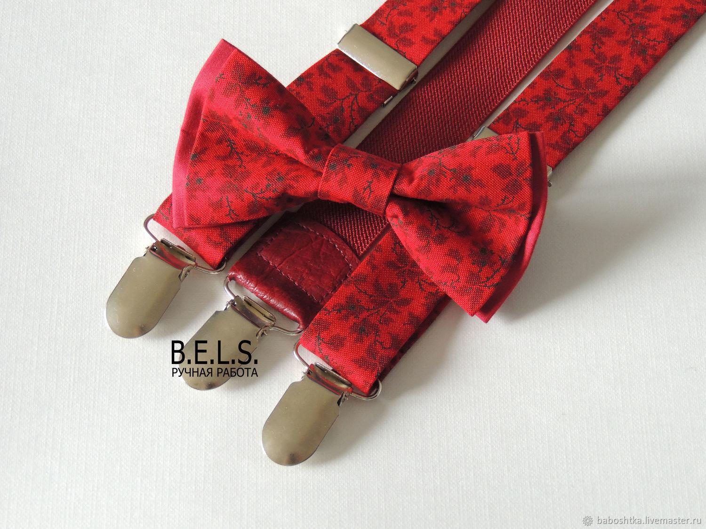 Бабочка + помощи бордовые цветы, Галстуки, Оренбург,  Фото №1