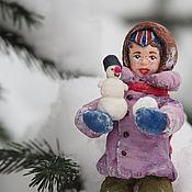 """Куклы и пупсы ручной работы. Ярмарка Мастеров - ручная работа Ватная елочная игрушка - """"Максимка"""". Handmade."""