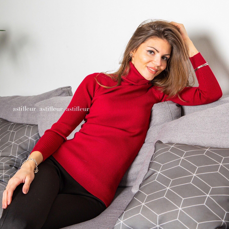 Водолазка теплая лапша бордо – купить в интернет-магазине на Ярмарке ... 0dcb94216e1