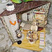 "Румбоксы ручной работы. Ярмарка Мастеров - ручная работа Румбокс ""Домик знахаря"".  Масштаб 1:12.. Handmade."