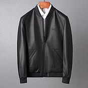Мужская одежда handmade. Livemaster - original item Men`s bomber jacket, made of genuine calfskin.. Handmade.