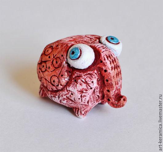 Миниатюрные модели ручной работы. Ярмарка Мастеров - ручная работа. Купить Слон керамический Баря. Фигурка слона, слон сувенир, слон из глины. Handmade.