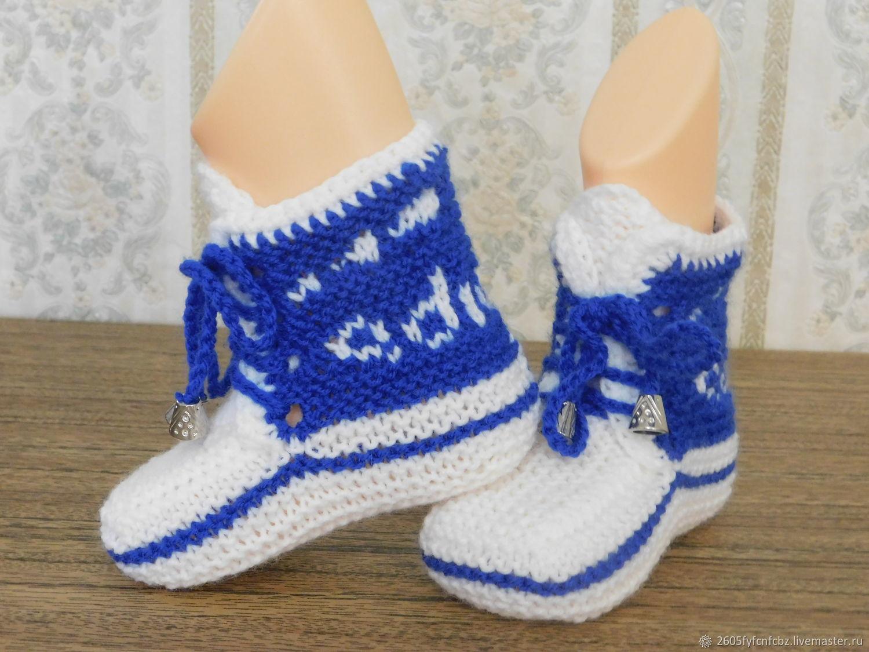 Обувь ручной работы. Ярмарка Мастеров - ручная работа. Купить Пинетки ' кеды adidas'. Handmade. Пинетки для мальчика