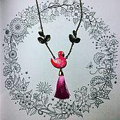 Украшения ручной работы. Ярмарка Мастеров - ручная работа Кулон Фламинго. Handmade.