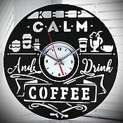 Для дома и интерьера handmade. Livemaster - original item Original gift. Coffee Time Clock. Handmade.