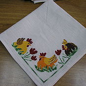 Подарки к праздникам ручной работы. Ярмарка Мастеров - ручная работа салфетка пасхальная. Handmade.