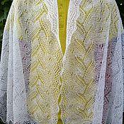 Аксессуары handmade. Livemaster - original item 4n. Downy stole thin, openwork scarf, Cape, accessories, white. Handmade.