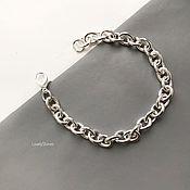 Украшения handmade. Livemaster - original item Chain bracelet with large links casual stylish. Handmade.